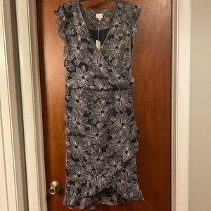 Women's floral print chiffon dress
